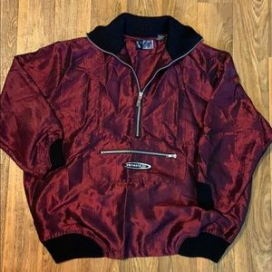 venezia sport iridescent pull over top/jacket EUC